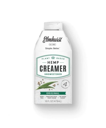Hemp plant-based milk creamer bottle