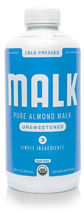 Almond plant-based milk bottle