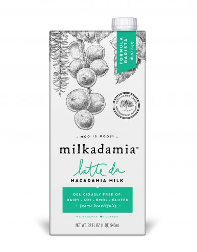 Macadamia plant-based milk carton
