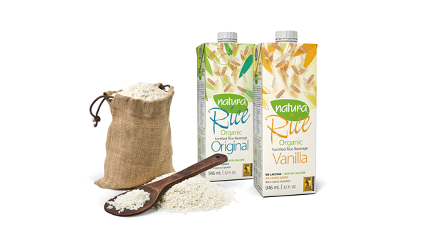 Rice plant-based milk carton
