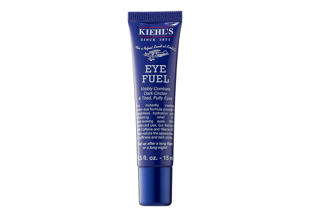 Kiehl\'s Eye Fuel eye cream photographed on a white background.