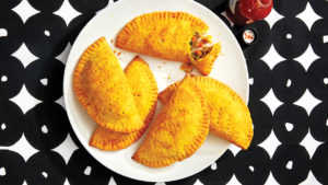 A plate of vegan lentil jamaican patties