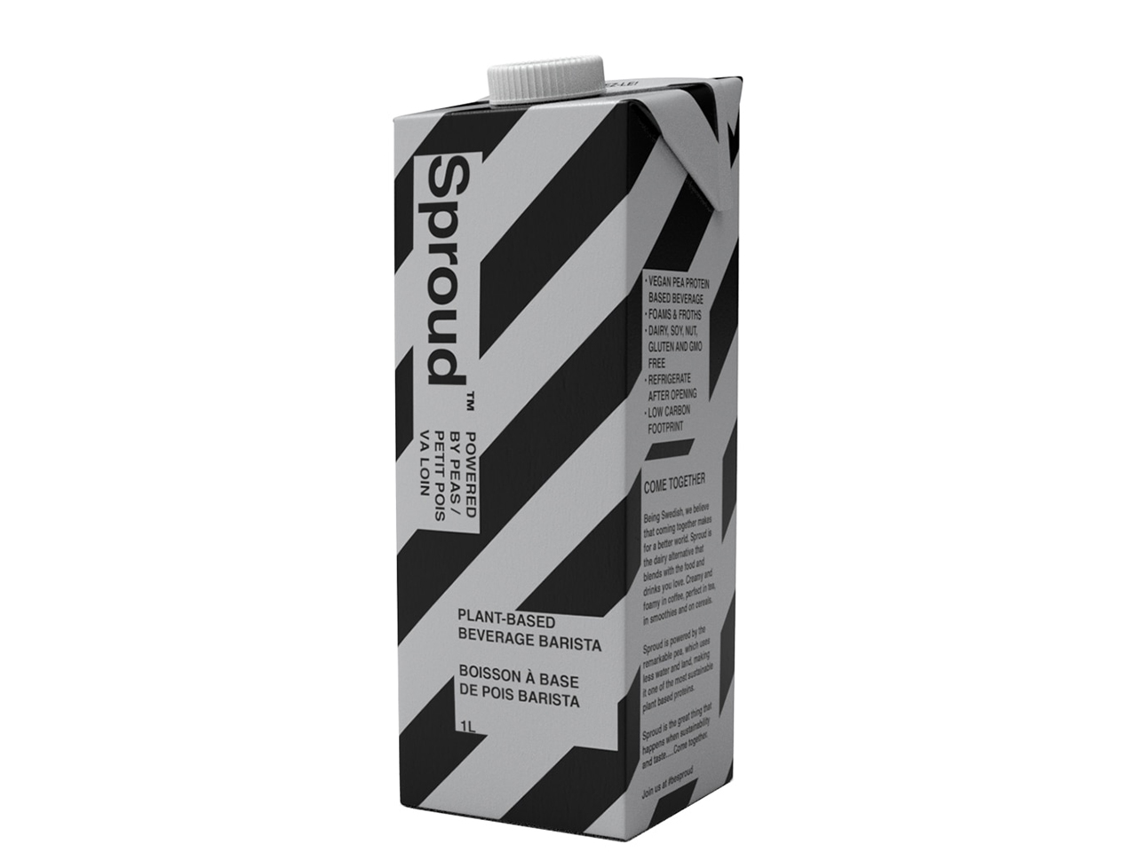 A carton of Sproud Barista pea milk