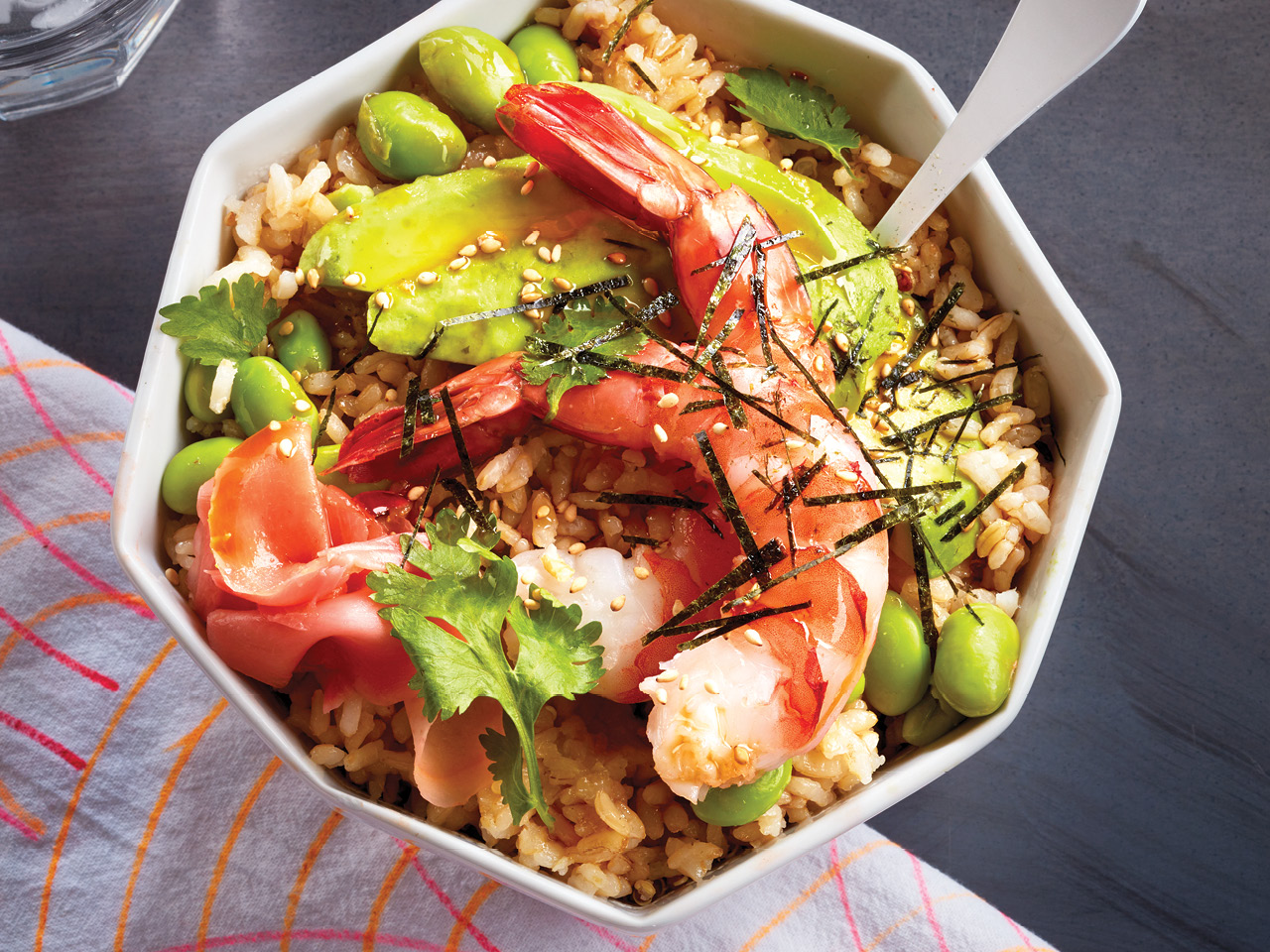 Shrimp and Coconut Rice Bowl