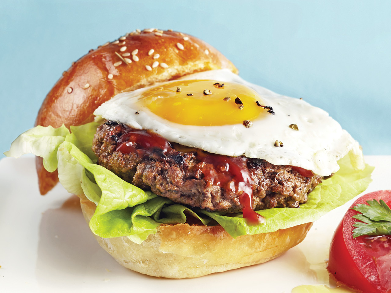 Steak and Egg Burger