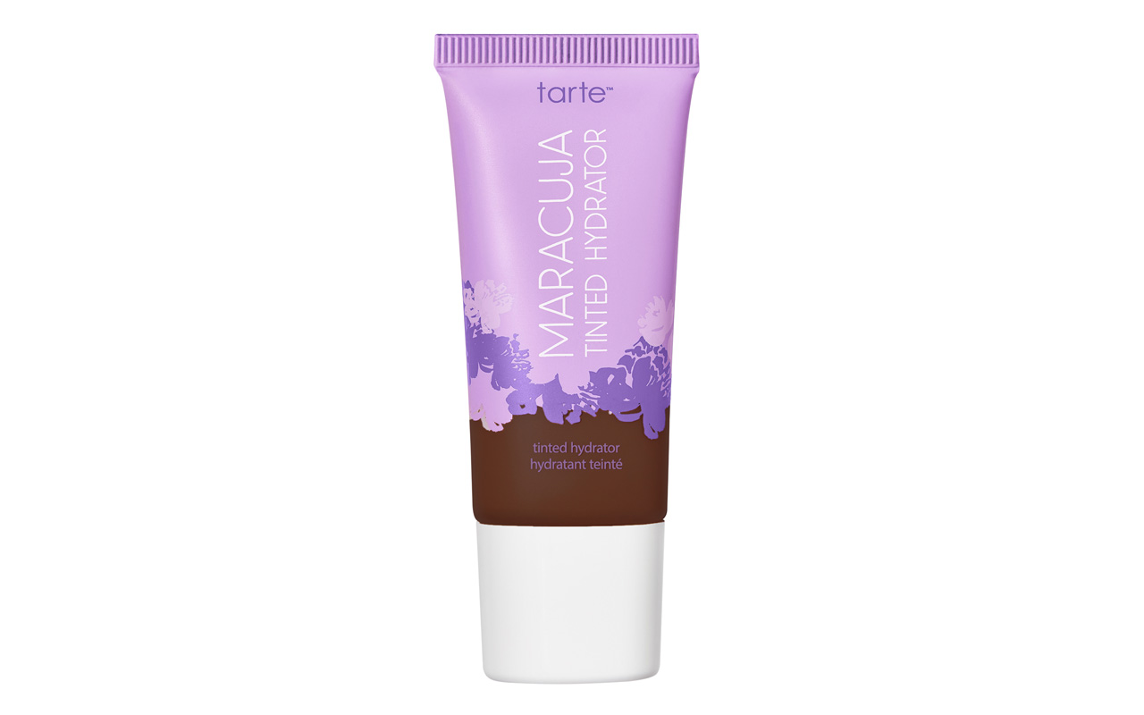 A photo of a Tarte tinted moisturizer on a white background.