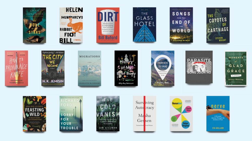 A roundup of book covers feature on a list of summer books to read for 2020