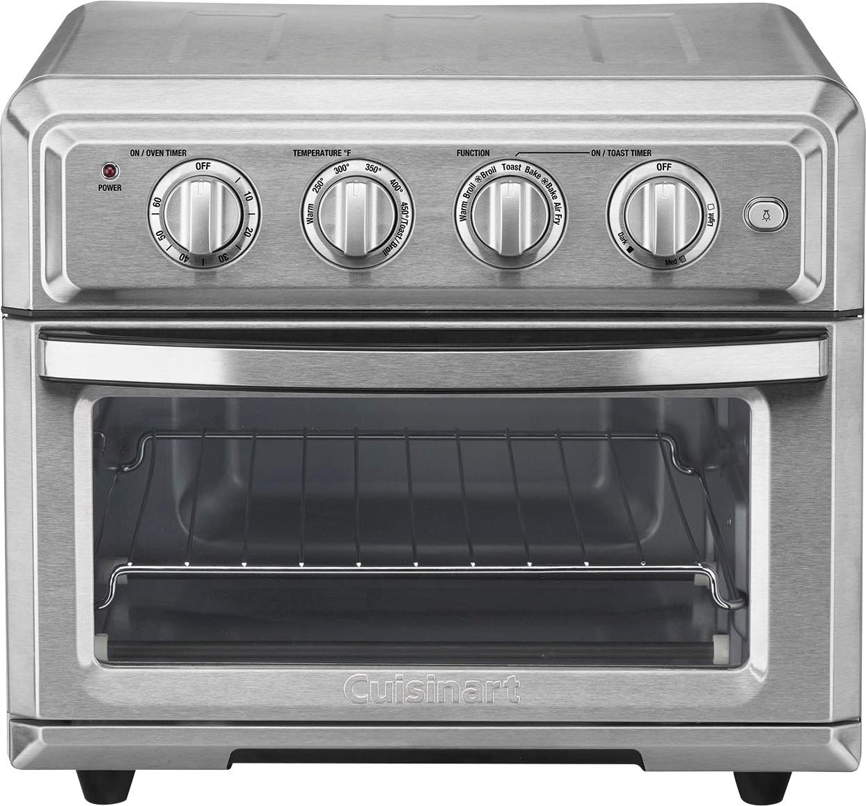 a stainless steel toaster oven