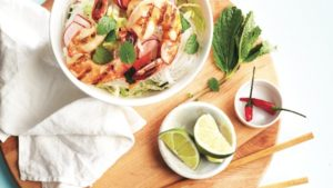 Shrimp summer roll salad