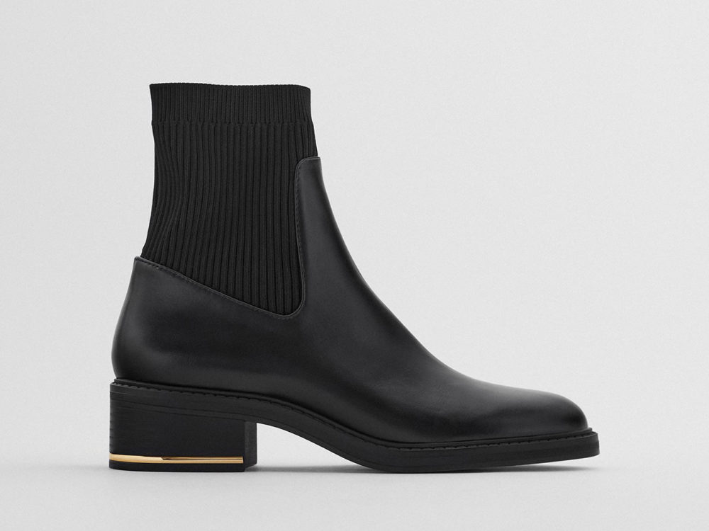 Zara Sock-Style Ankle Boots