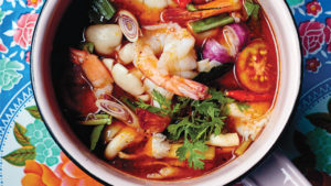 Chef Nuit Regular's Tom Yum Goong - sour and spicy soup with shrimp and tom yum paste