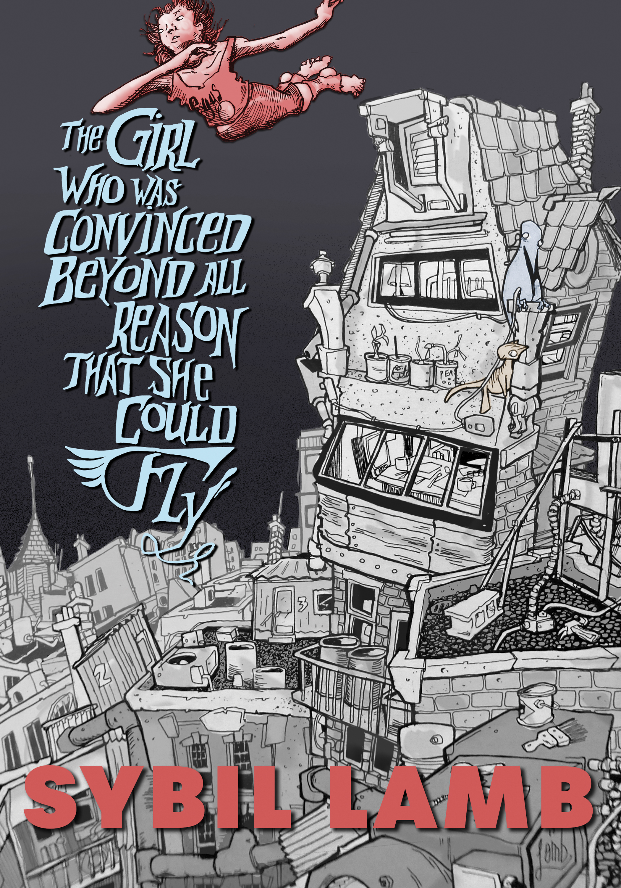 "The cover of ""The Girl Who Was Convinced Beyond All Reason That She Could Fly."""