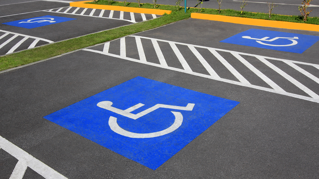 An image of accessible parking spots for a piece on what it's like to live with an invisible illness