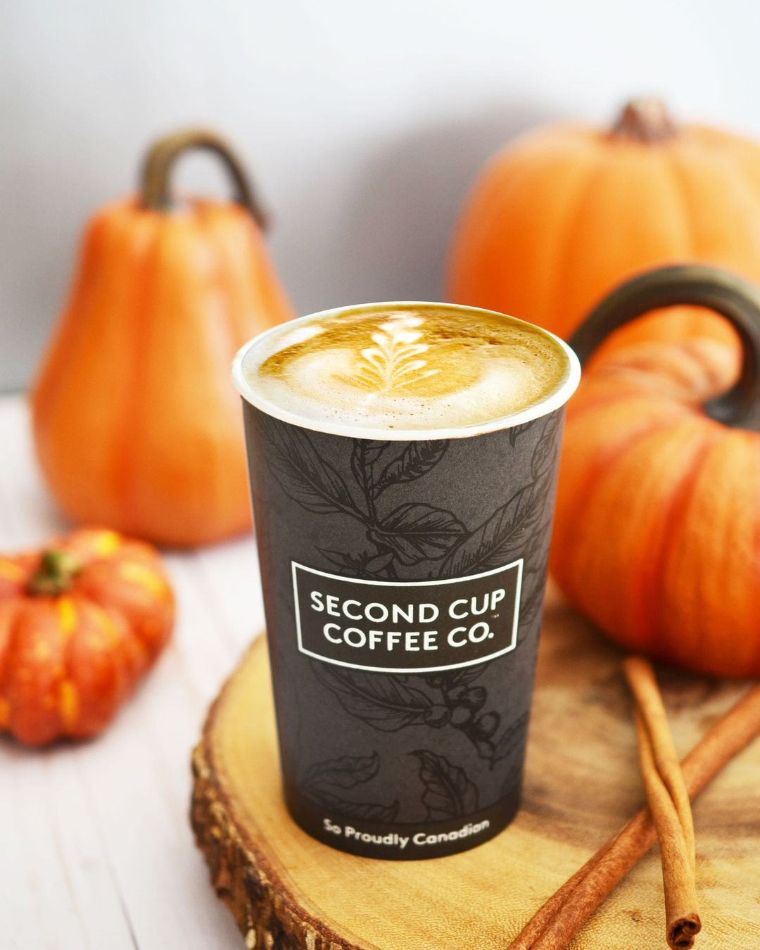 Second Cup Oat Pumpkin Spice Latte