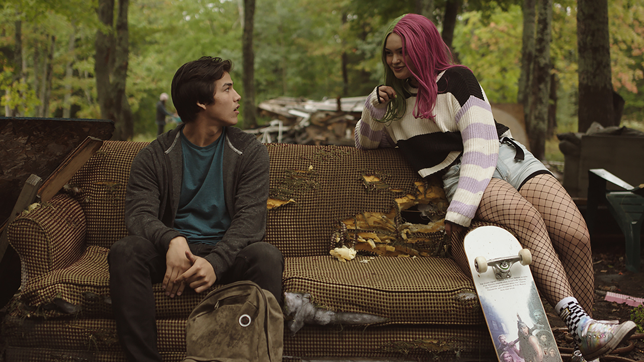 Joel Oulette (Jared) and Anna Lambe (Sarah) in Trickster (Photo: CBC)