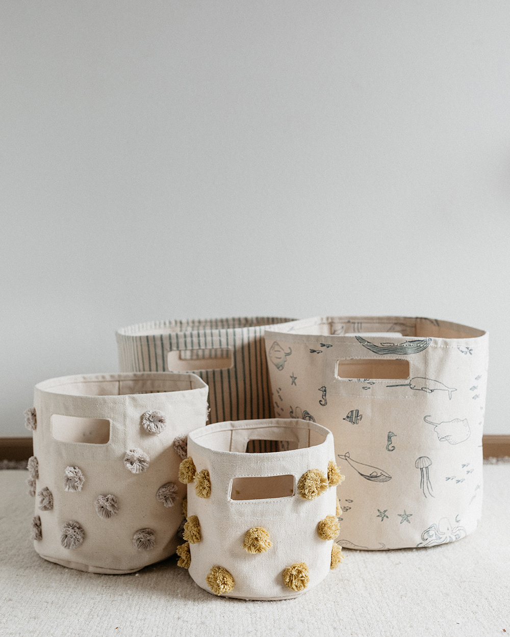 A grouping of baskets from Pehr