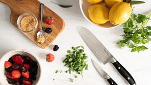 Kilne paring knife and santoku knife for a review of the DTC knife line