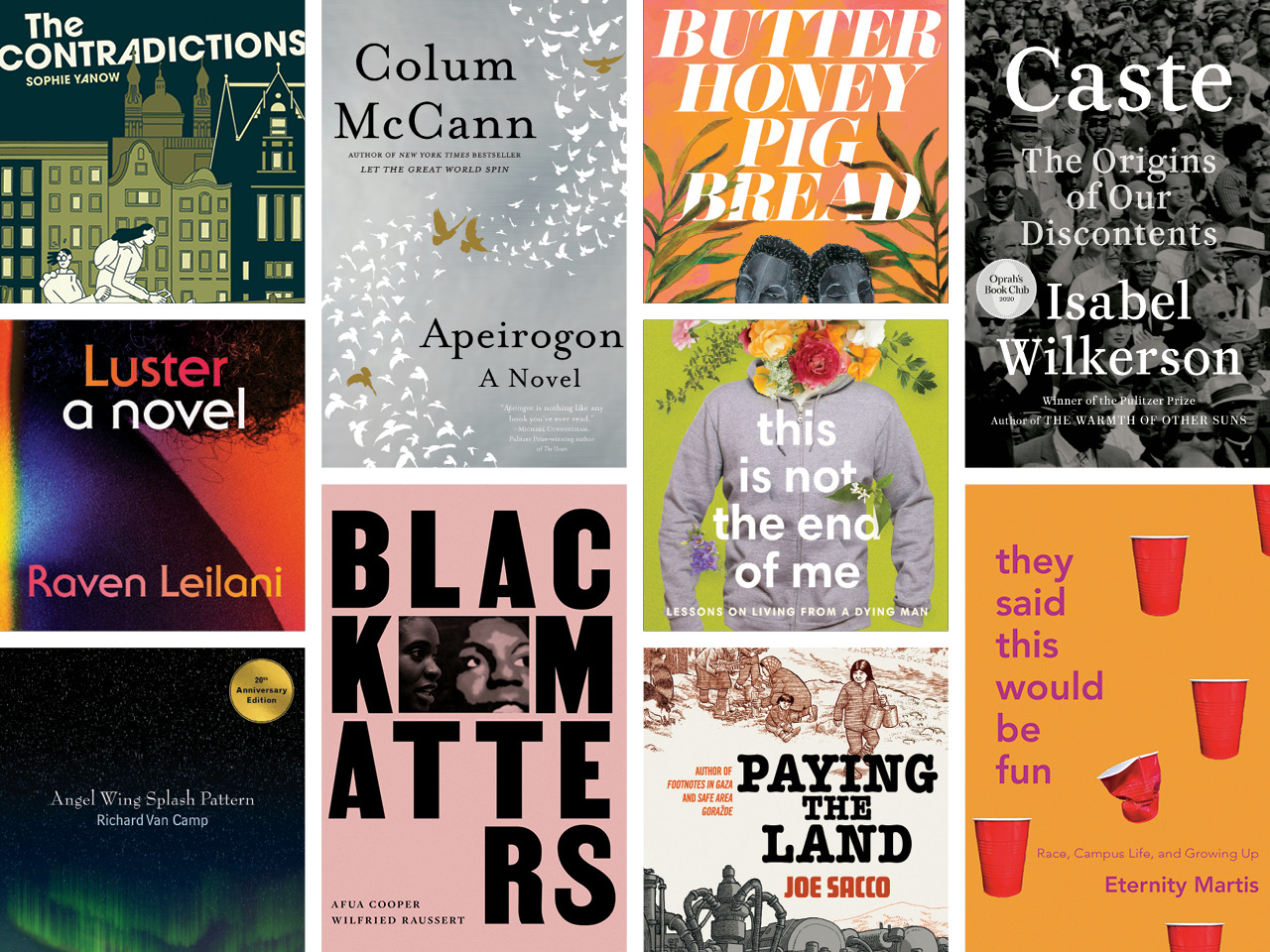 A collage of images of the covers of the books mentioned.