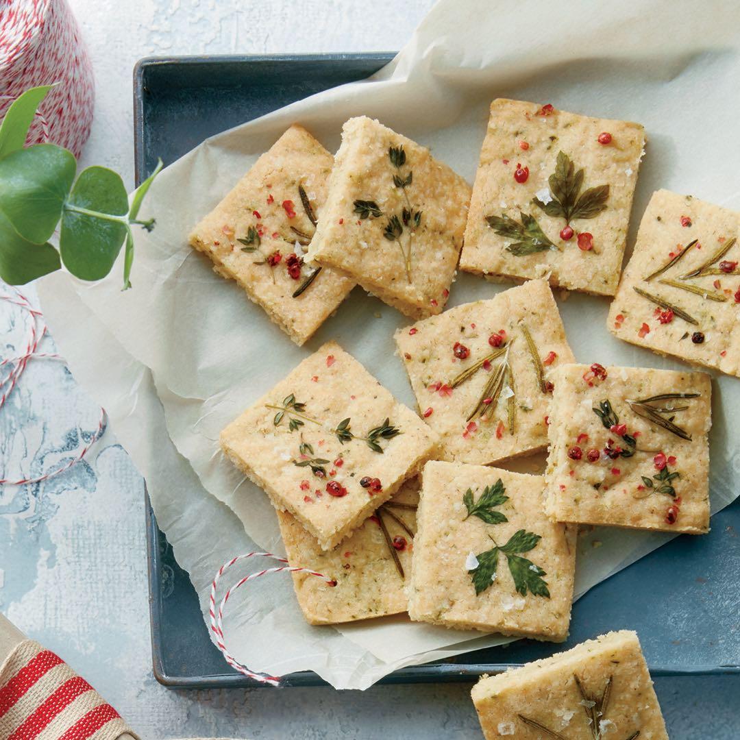 Savoury Herb Shortbread Cookies