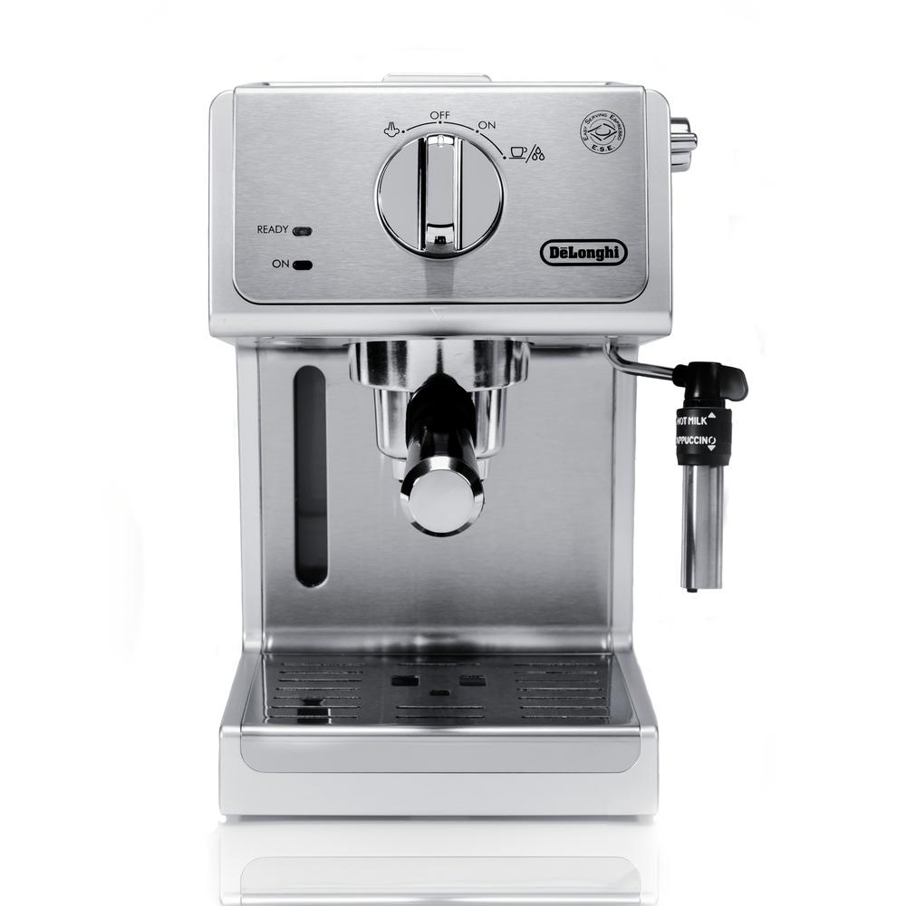 a stainless steel espresso maker