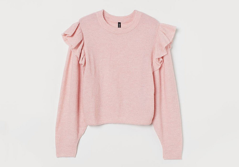 H&M Flounce-Trimmed Sweater