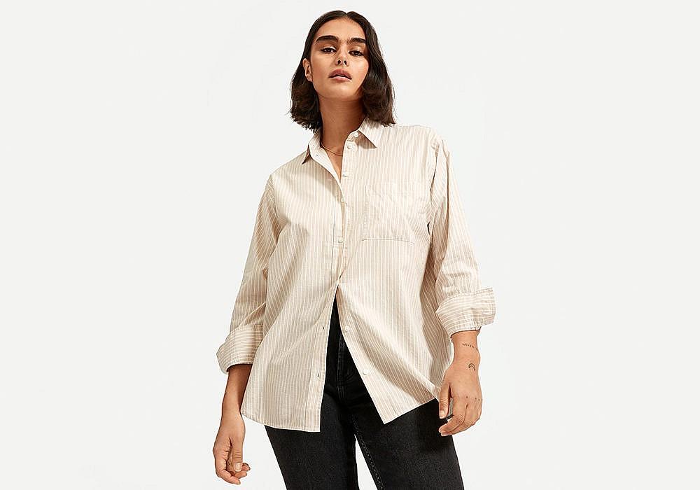 Everlane Silky Cotton Oversized Shirt