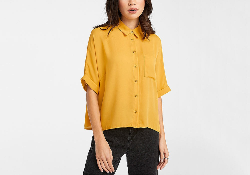 Twik Recycled Polyester Boxy Blouse