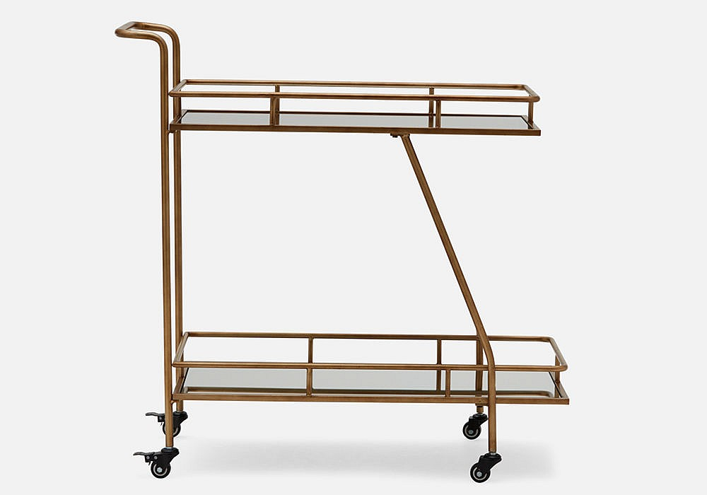 Structube Maringa Mirrored Cart