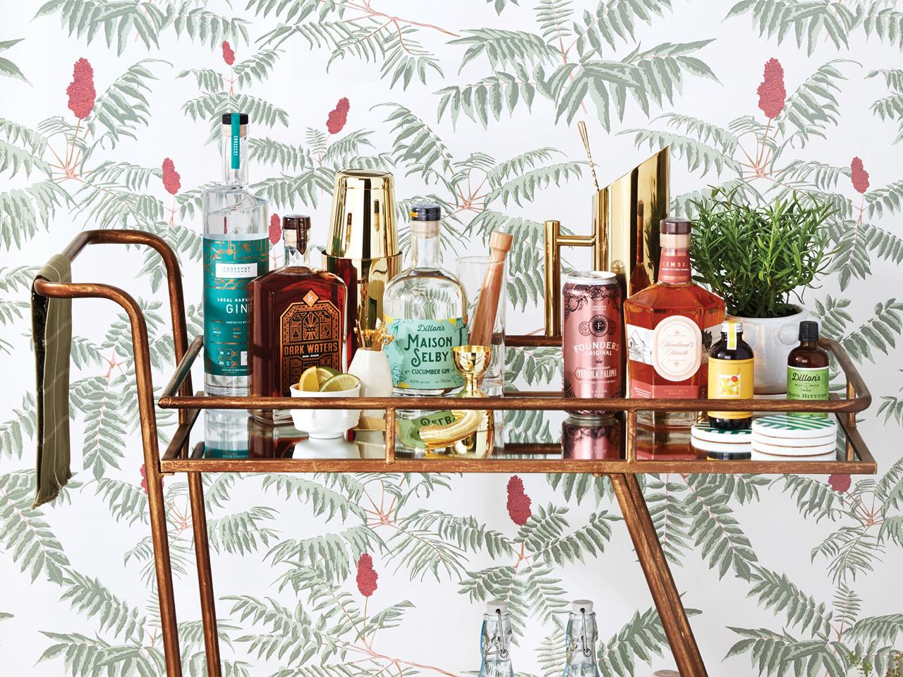 Bar Cart Ideas How To Style A Bar Cart Chatelaine