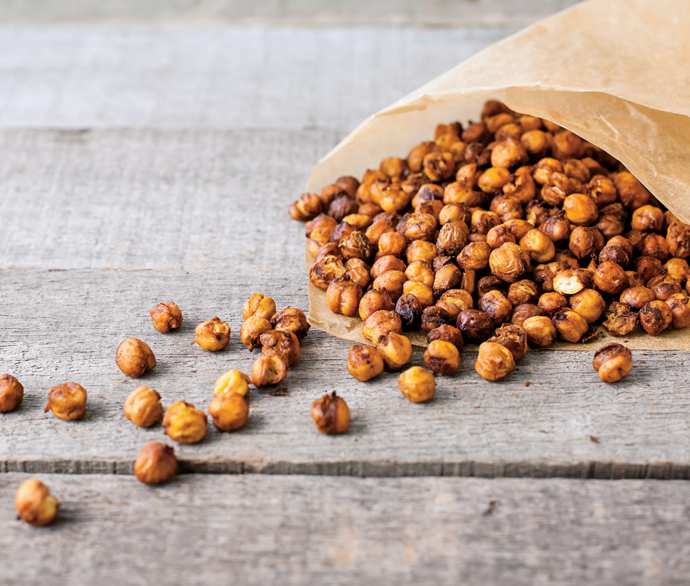 A bag of roasted chickpeas to illustrate a piece on food trends for 2021