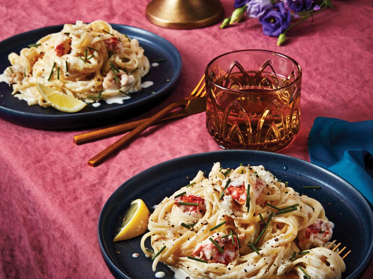 Creamy Lobster Fettuccine