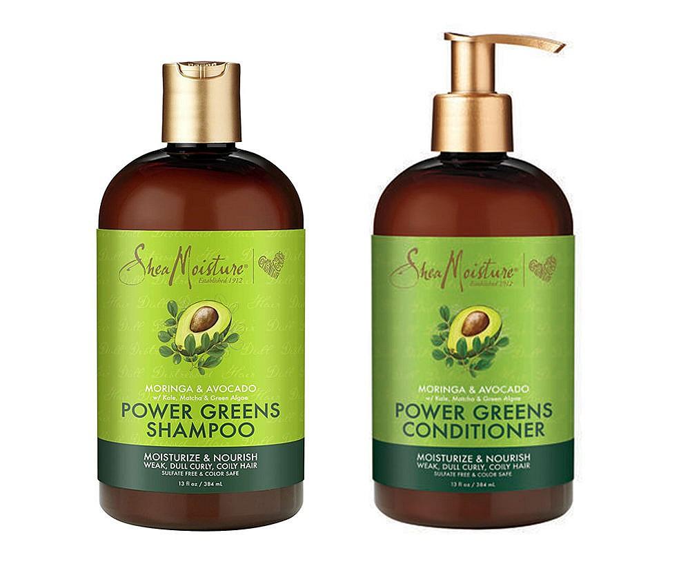 SheaMoisture Power Greens Moringa & Avocado Shampoo and Conditioner