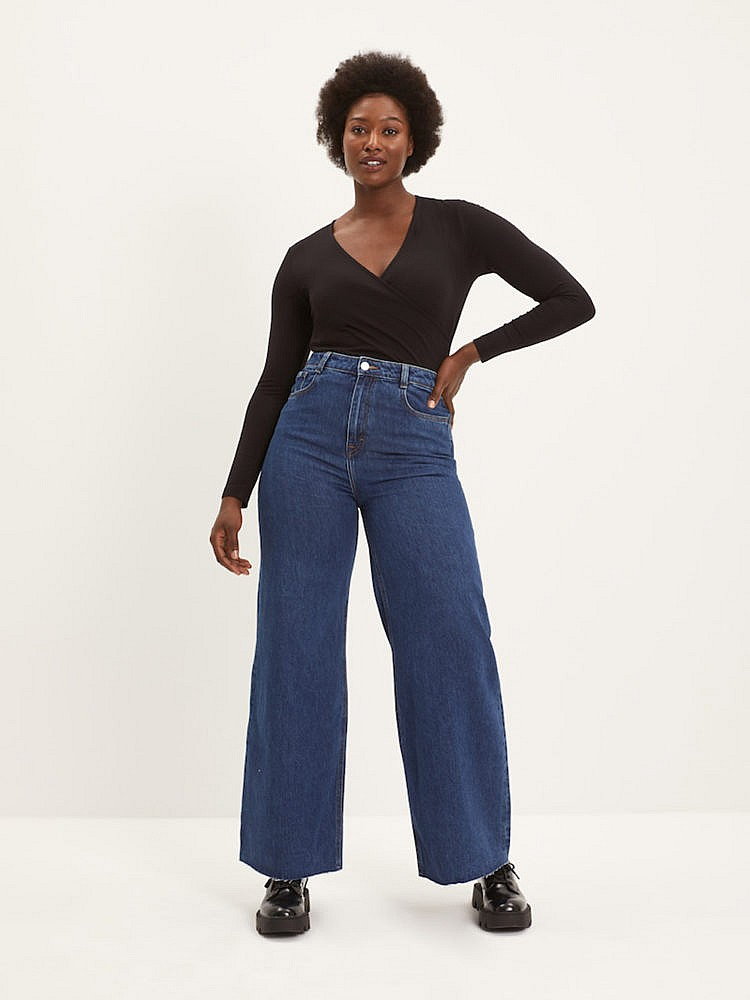 Frank & Oak Long Nina Wide-Leg Jeans