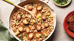 "Vegan ""Scallop"" And Navy Bean Cassoulet recipe"
