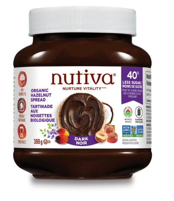 a photo of a jar of nutiva chocolate spread