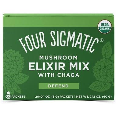 A box of Four Sigmatic Chaga Mushroom Elixir Mix