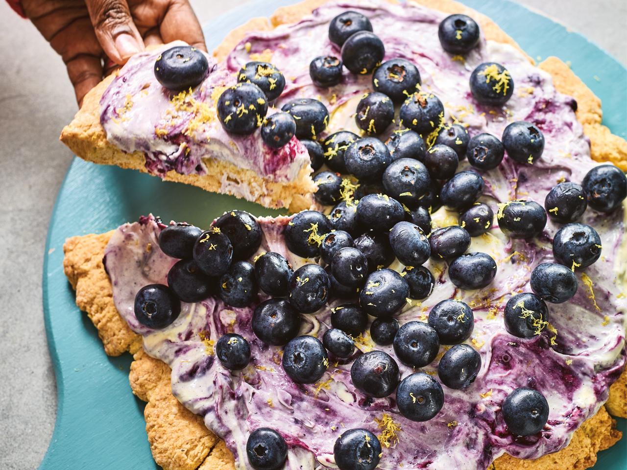 Nadiya Hussain's Blueberry And Lavender Scone Pizza