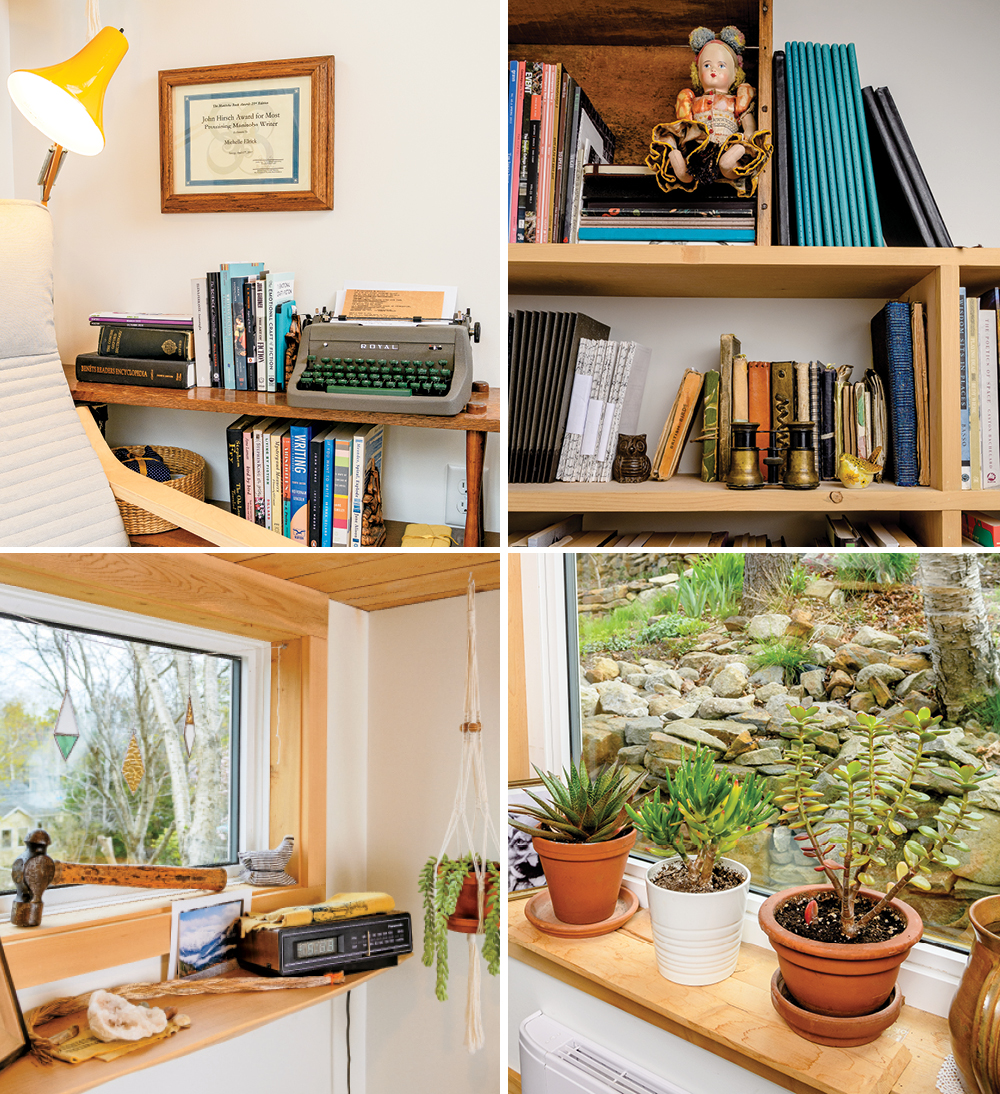 Writer Michelle Elrick's favourite things in her Nova Scotia backyard shed office.