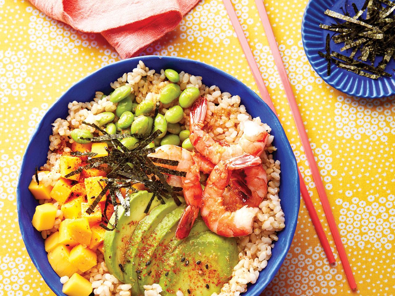 Hawaiian Shrimp Poke Bowl